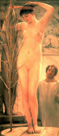 Lawrence Alma-Tadema - A Sculptor's Model