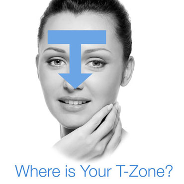 Pores in T Zone Blackheads