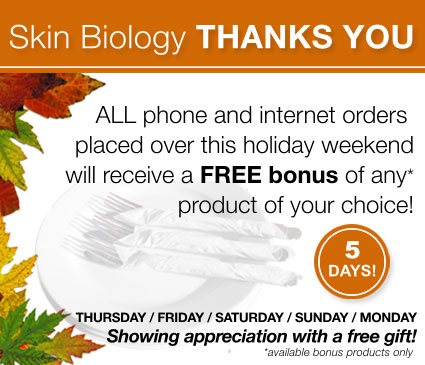 All orders made over Thanksgiving weekend will receive a free bonus of their choice